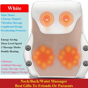 TheShy 3D Electric Massage Pillow Vibrator Lengthening Design Infrared Therapy Muscle Relaxation Neck Back Leg Body Massager