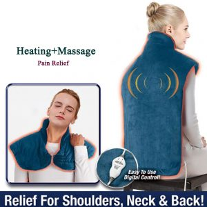 Flannel Health Relief Wrap Neck Shoulder Back Muscles Pain Relief Heating Pad Extra-Long Massaging Heat Wrap Household Massager
