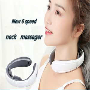 Good Intelligent Neck Massager Electric Pulse Far Infrared Heating Pain Relief Relaxation Cervical Massage Health Care