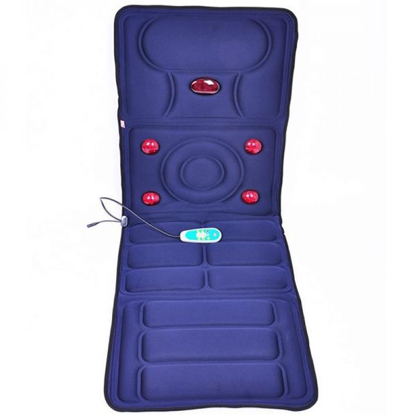 Electric Vibrator Massager Mattress Far-Infrared Heating Therapy Neck Back Massage Relaxation Bed Vibrador Health Care