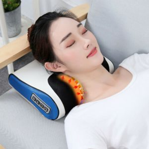 FOUAVRTEL Deep Neck Massager Infrared Heating Neck Massage Pillow Multi-function Finger Pillow Massager Relaxing Head&Neck