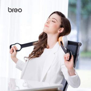 breo iNeck2 Shiatsu Electric Shoulder Neck Massager with Heat Compression Magnetic Therapy Deep Kneading Portable Massager