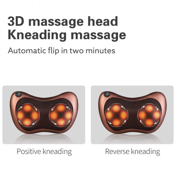 Bisd Relaxation Massage Pillow Vibrator Electric Shoulder Back Heating Kneading Infrared therapy pillow shiatsu Neck Massager