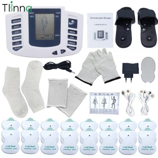 EMS Body Electrical Muscle Stimulator Tens Acupuncture Slimming Massager 16 Pads Digital Therapy for Back Neck Foot Health Care