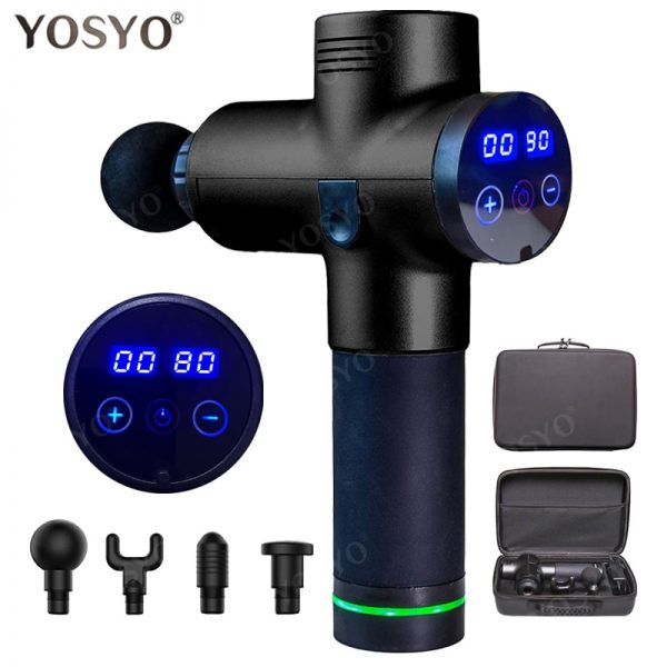 LCD Display Massage Gun Deep Muscle Massager Muscle Pain Body Neck Massage Exercising Relaxation Slimming Shaping Pain Relief
